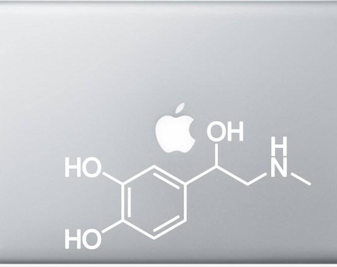 Adrenaline  Molecule Decal for Laptop, or bumper sticker