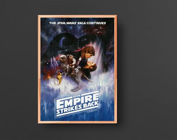 Star Wars: Episode V – Empire Strikes Back(1980) Vintage Movie Poster