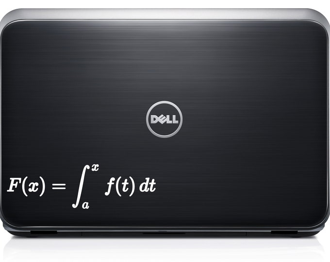 Fundamental Theorem of calculus  decal for wall computer or bumper sticker