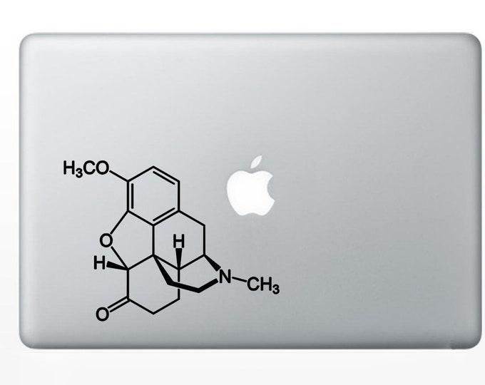 Vicodin (Hydrocodone/paracetamol) Chemical  Molecule Decal for Laptop, or bumper sticker