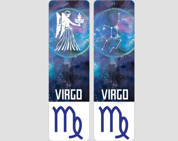 Virgo Zodiac Sign Indestructible waterproof bookmark