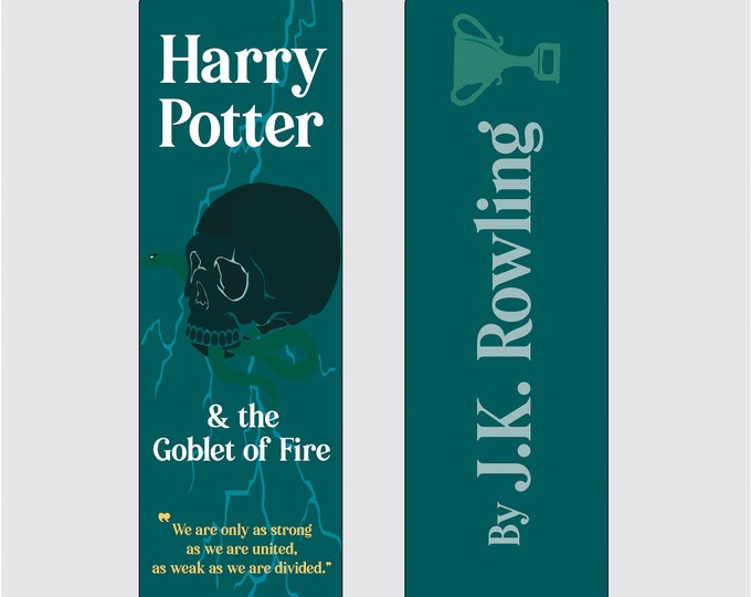 Harry Potter and the Goblet of Fire by J.K Rowling Bookmark