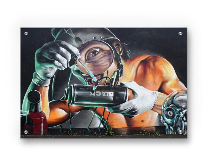 Trippy Science Graffiti Wall Art