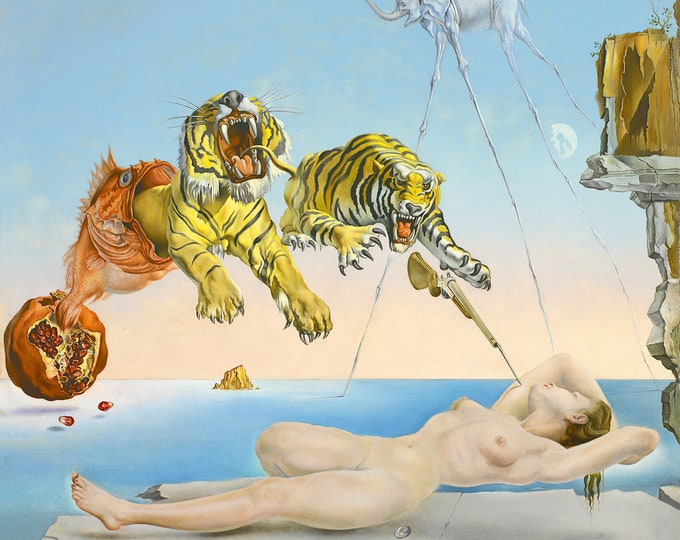 Dream Caused by the Flight of a Bee - Salvador Dali Masterpiece Reproduction Printed in Refined Aluminum