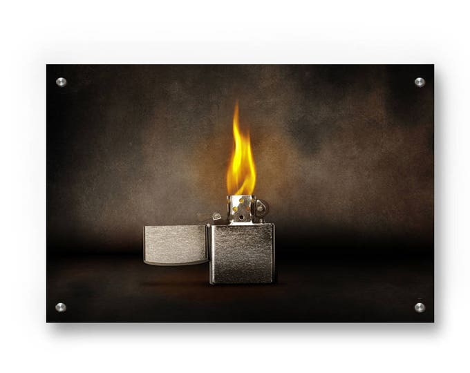 Smoky Lighter  printed on Brushed aluminum