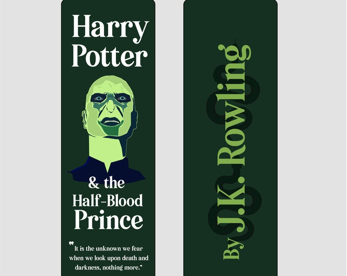 Harry Potter and the Half Blood Prince by J.K Rowling Bookmark