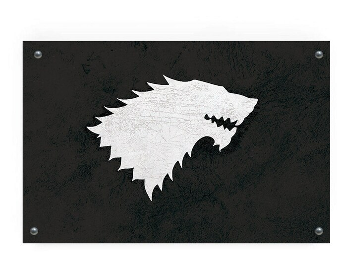House Stark  (Game of Thrones) Flag Wall Art