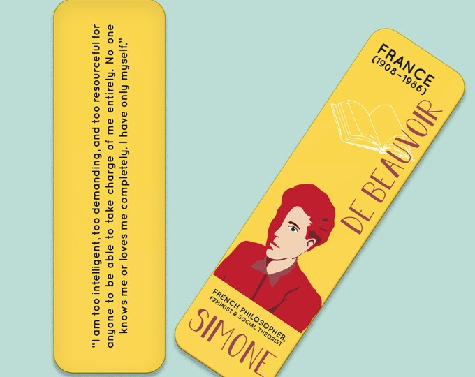 Simone De Beauvoir Indestructible Bookmark