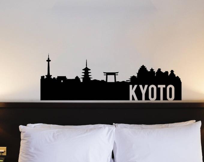 Kyoto Skyline Silhouette Decal