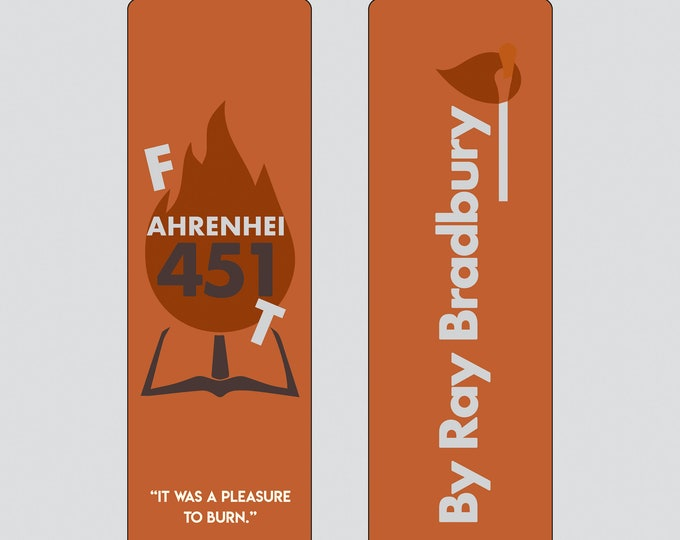 Farenheit 451 - Ray Bradbury Bookmark