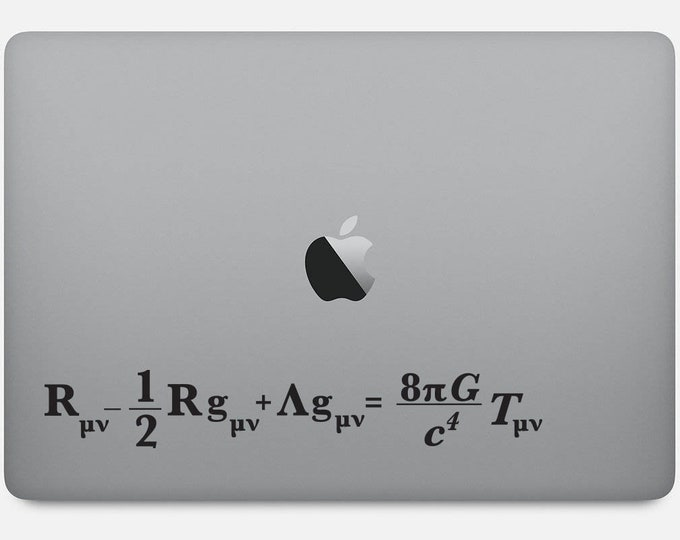 Einstein Field Equation for General Relativity decal for Walls, Computers or as Bumper Sticker