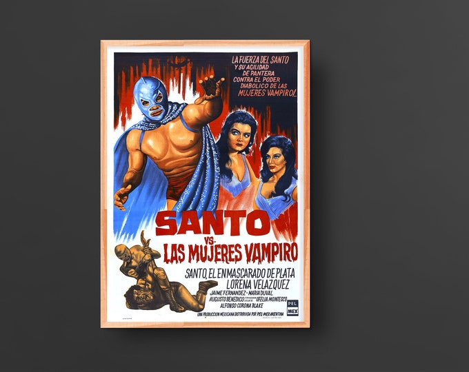 Santo vs. las Mujeres Vampiro (Samson vs. the Vampire Women) (1962) Movie Poster
