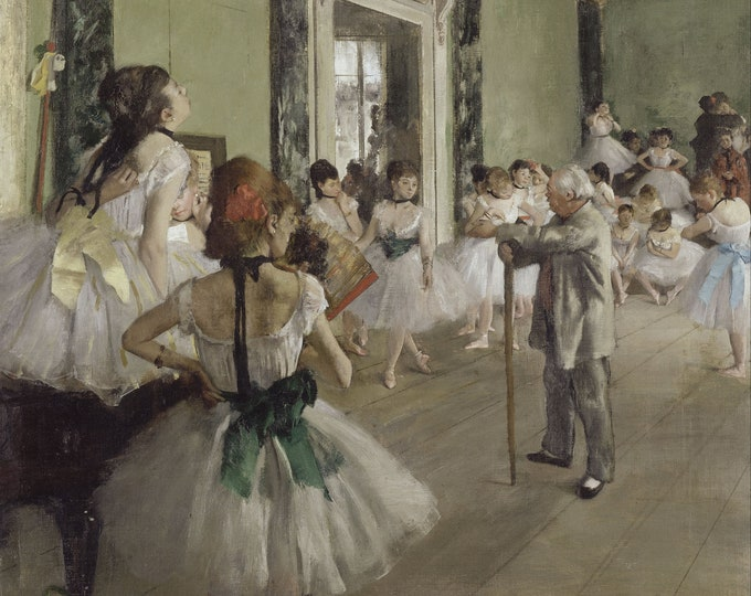 The Ballet Class  (1871–74) by Edgar Degas Masterpiece Reproduction Printed in Refined Aluminum