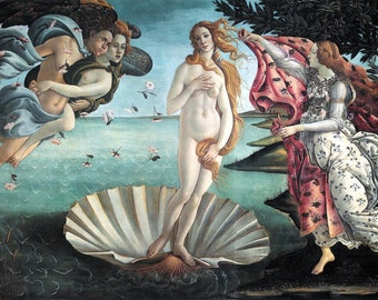 The Birth of Venus (11484-1486) by Sandro Botticelli Masterpiece Reproduction Printed in Refined Aluminum