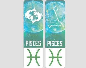 Pisces Zodiac Sign Indestructible waterproof bookmark