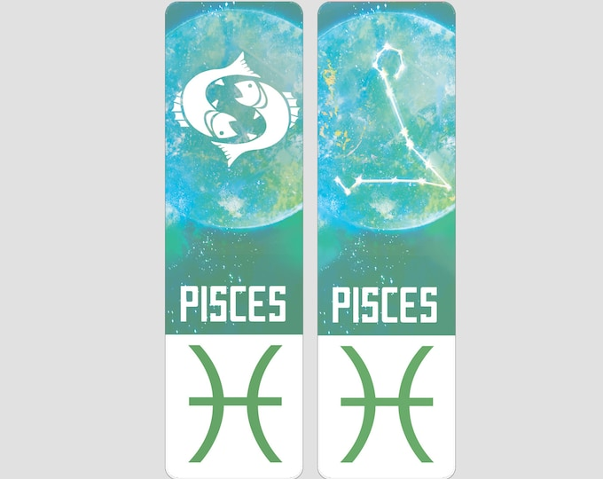 Pisces Zodiac Sign Indestructible waterproof bookmark