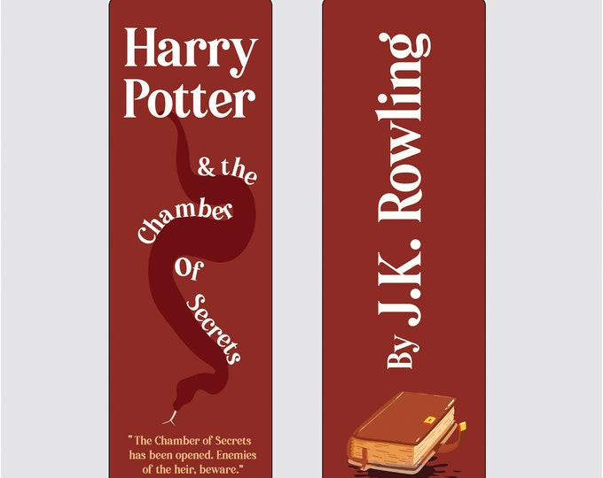 Harry Potter and the Chamber of Secrets by J.K Rowling Bookmark