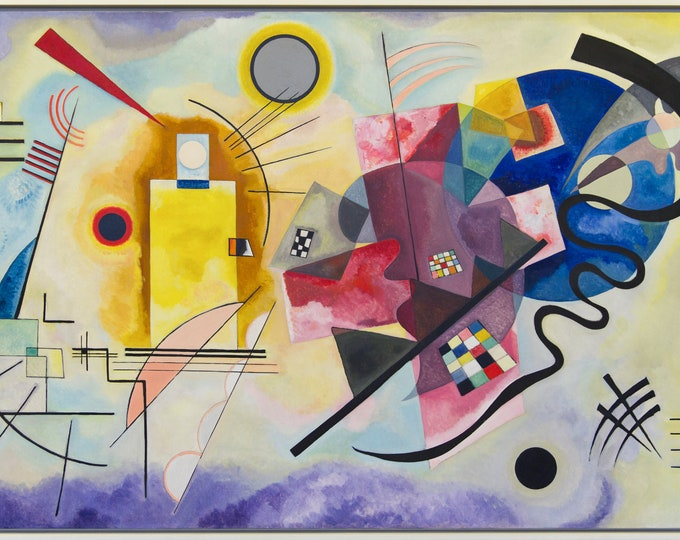 Yellow, Red & Blue  (1925) by Wassily Kandinsky Masterpiece Reproduction Printed in Refined Aluminum