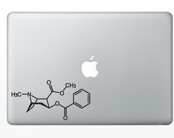 Cocaine Molecule Sticker Decal for computers or bumper sticker