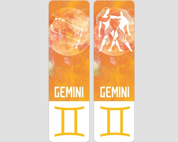 Gemini Zodiac Sign Indestructible waterproof bookmark