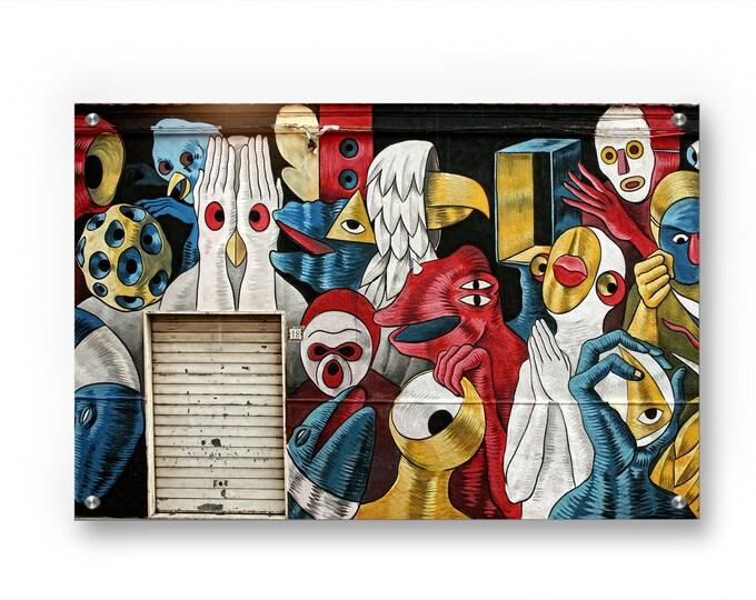 Spooky Mural Graffiti wall art printed on refined aluminum