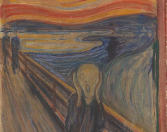 The Scream (1893) Edvard Munch Masterpiece Reproduction Printed in Refined Aluminum