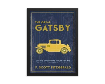 The Great Gatsby by F. Scott Fitzgerald Book Poster