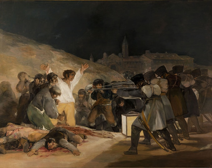 The Third of May 1808  (1814) by Francisco Goya  Masterpiece Reproduction Printed in Refined Aluminum
