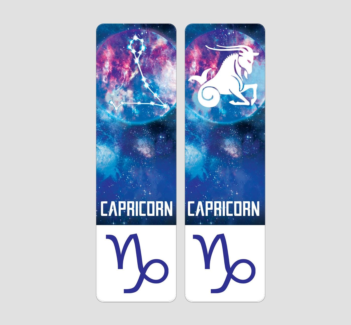 Capricorn Zodiac Sign Indestructible waterproof bookmark