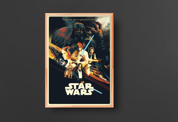 Star Wars New Hope Episode Iv 1977 Vintage Movie Poster Etsy