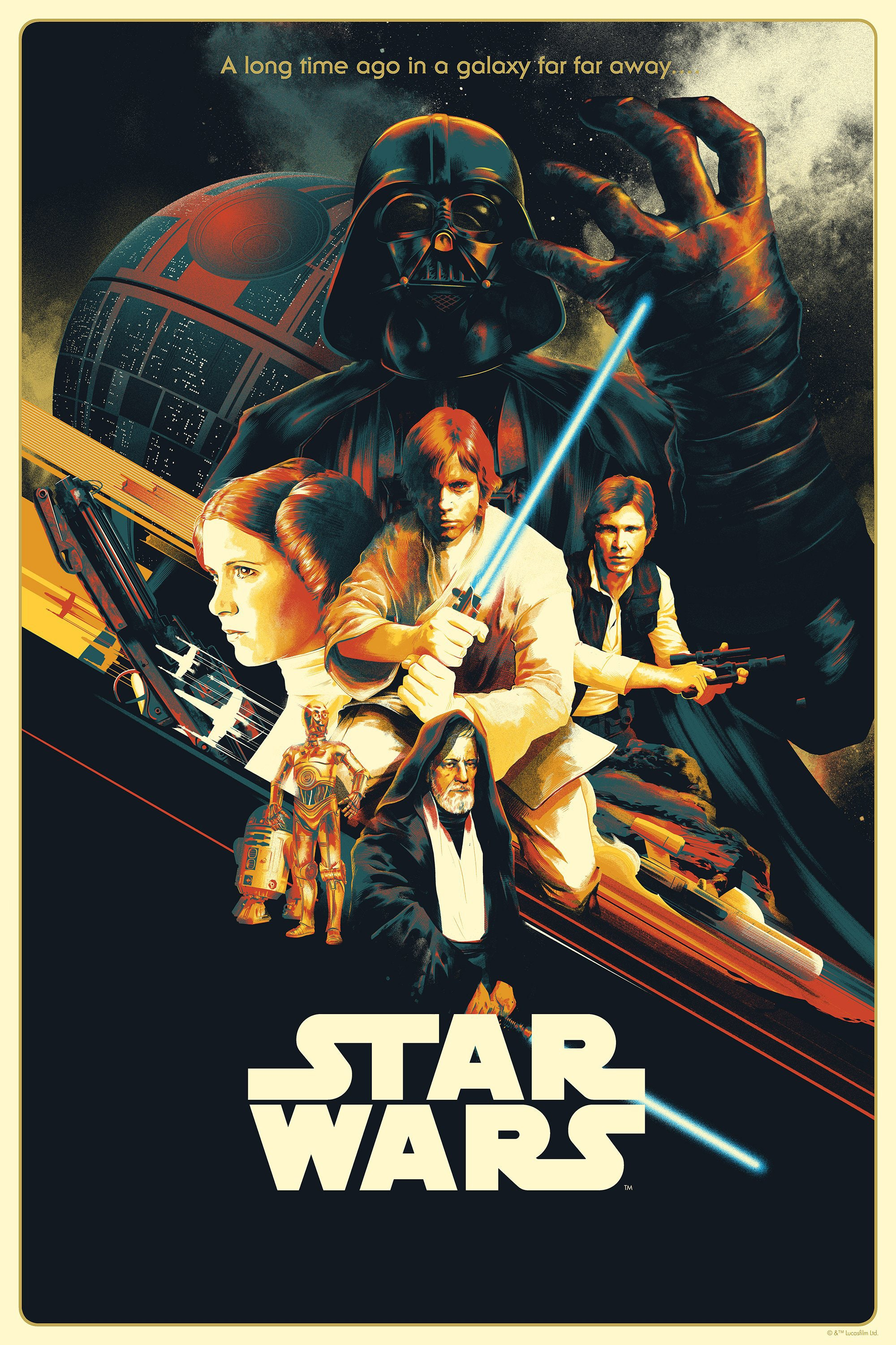 Star Wars New Hope Episode Iv 1977 Vintage Movie Poster
