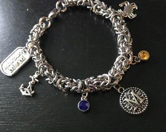 USNA Charm Bracelet