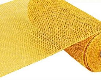 FREE SHIPPING - 10 inch x 10 Yards Yellow Poly Burlap f7dc5a68864b