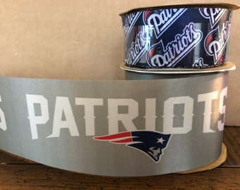 FREE SHIPPING- 2 Piece Ribbon Set - New England Patriots - NFL Licensed  Offray Ribbon 4c86e1372