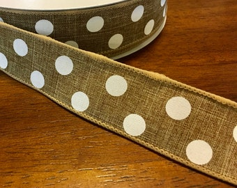 Quality Ribbon Everyday Ribbon 10 Yards 2.5 Wired White Linen Ribbon FREE SHIPPING