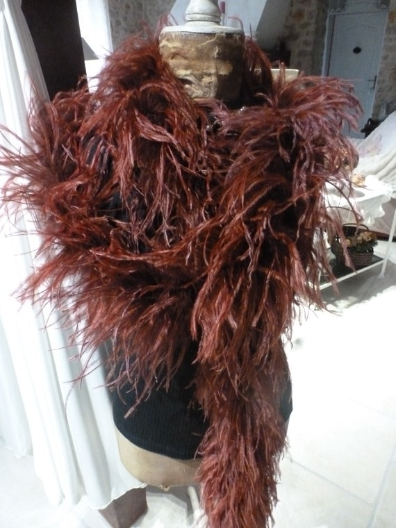 Boa old ostrich feathers - vintage - year 1930
