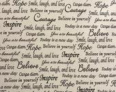 Inspirational Words Cloth Mask