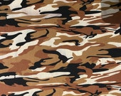 Brown, Black, and Tan Camouflage Cloth Mask