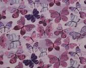 Purple Butterflies Cloth Mask