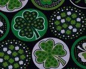 Shamrocks with Dots Black St. Patrick's Day