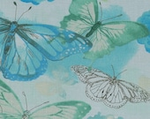 Green Watercolor Butterfly Floral Cloth Mask