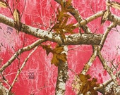Fall Forest Scene with Pink Background Cloth Mask