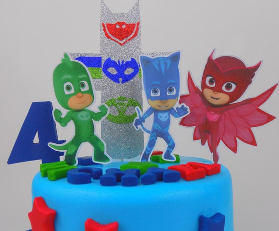 PJ Masks Cake Topper Decoration Birthdaysugar Paste Edible