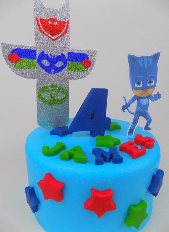 PJ Masks Owlette Catboy Gekko Cake Topper Birthday Sugar