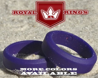 Women's Purple Silicone Wedding for Mothers & Wives Ring Durable Hypoallergenic Wedding Promise Ring for Women; Crossfit Yoga Gym