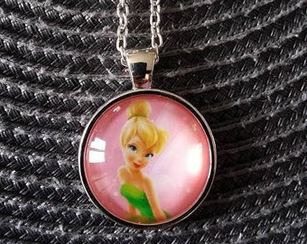 Pink Tinkerbell necklace