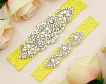 8ab36a964 Yellow garter belt