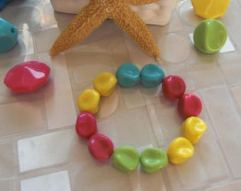 Stretch Bracelet, multicolor POP trendy