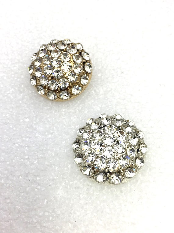 Sparkling Crystal Rhinestone Buttons For Wedding Decoration Invitation Card Jewelry Supply Gb 0303 Silver And Gold