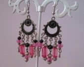 earrings to pendants charms pink and black